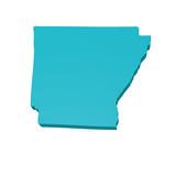 Arkansas 3d map