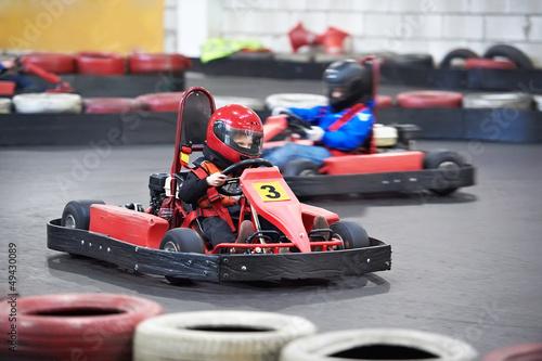 Fotobehang Motorsport Competition for children karting