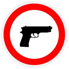 Pistol, forbidden sign