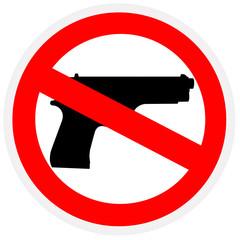 Pistol, interdicted sign