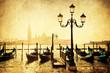 nostalgisch texturiertes Bild von der Uferpromenade in Venedig