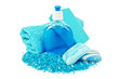 Soap blue different with sponge and bath salts