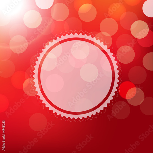 Red Background With Bokeh And Sphere
