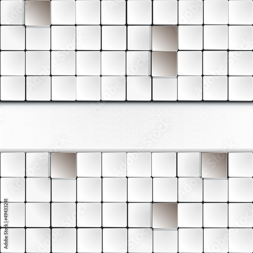 Overlapped white squares and copyspace