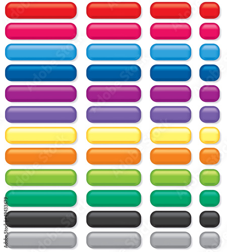 Rectangular 3D Buttons