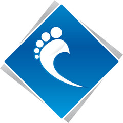 podiatrist foot blue logo