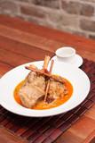 Thai fusion food, Lamb massaman poster