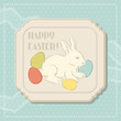 Happy Easter retro greeting card.