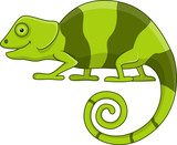 Funny chameleon cartoon