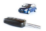 Fototapety Key & car isolated on the white background