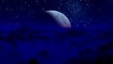 UFO against a blue planet