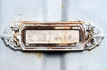 Metal sign plate