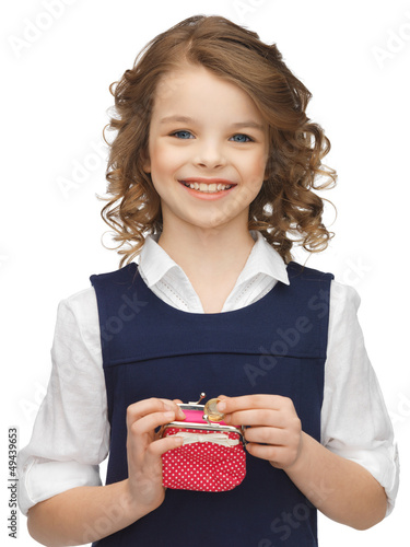 girl with coin purse