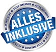 "Button Banner ""Alles inklusive"" blau/silber"