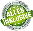 "Button Banner ""Alles inklusive"" grün/silber"