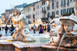 Leinwandbild Motiv Northward view of the Piazza Navona with the fontana del Moro