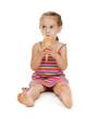 litle girl with ice cream