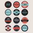 Set of shopping premium quality labels