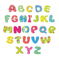 Vector bright children's alphabet