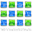 shopping cart buttons - Warenkorb Tasten-Set