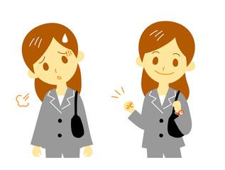 女性会社員(疲労と回復)