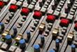 mixer in the recording studio