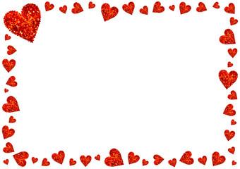 Rote Herzen Karte Valentinstag Liebe