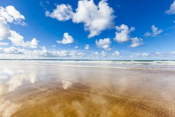 Empty Beach in Devon, England