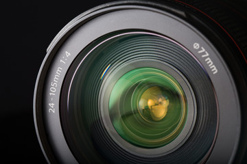 SLR zoom lens close-up