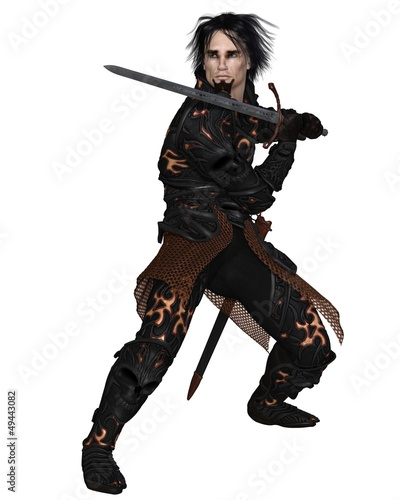 Dark Warrior with Sword - 2