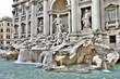 Leinwanddruck Bild - Trevi Fountain, Rome