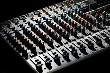 Music mixer desk
