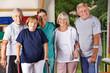 Gruppe von Senioren beim Seniorensport