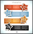 Infographic template design with paper tags
