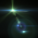 Vector star, sun with lens flare.