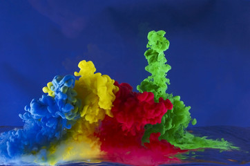 Movement of colored liquid
