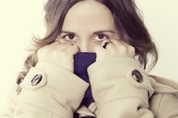 retrato joven chica