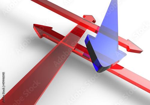 Finde den richtigen Weg - Blau Rot 8