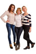 Three happy female companions