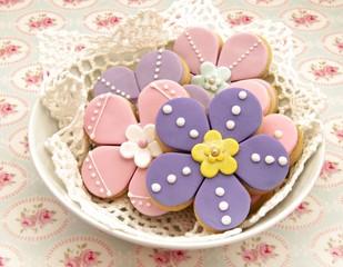 Galletas con forma de flores