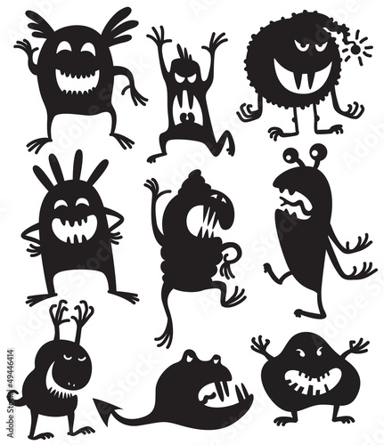 Silhouettes monsters