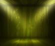 Green Wooden Spotlight Room Background