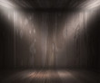 Gray Wooden Spotlight Room Background