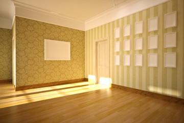 classic interior, empty interior