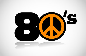 eighties peace symbol