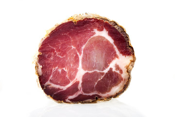 Piece of Italian Capocollo (Cured Pork Shoulder)