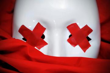 blind white mask