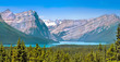 Scenic landscape with Rocky Mountains in Alberta, Canada