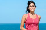 Woman running on summer