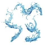 clear natural still water dynamic splash poster